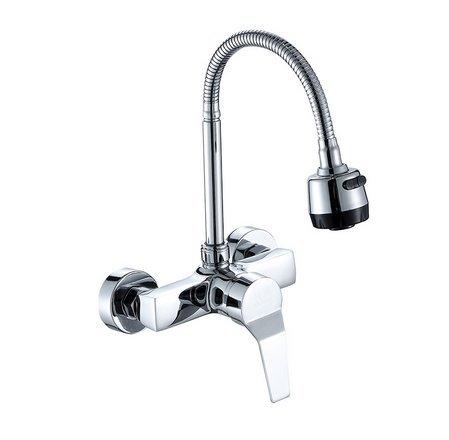 Diongrdk Küchenarmaturen Stream Spray Bubbler Badezimmer Küchenarmatur Wand Montiert Dual Loch Heiß Und Kalt Wasser Flexible Rohr Küchenarmatur (öl-bubbler-rohr)