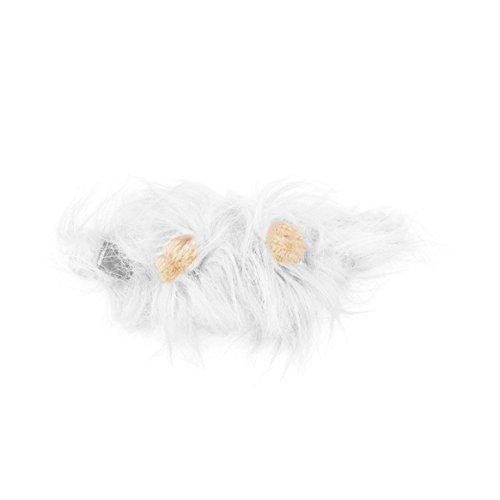(Delicacydex Lovely Pet Kostüm Lions Mähne Perücke für Katze Halloween Christmas Party Dress up mit Ohr Pet Bekleidung Cat Fancy Dress)