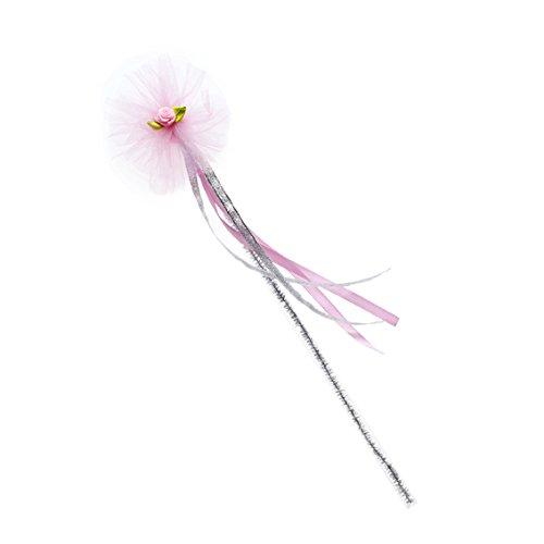 Rose & Romeo - 11005 - Accessoire Pour Déguisement - Baguette - Sadi - Argent/Rose