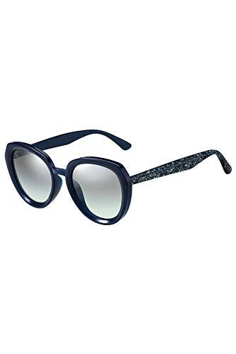 Jimmy Choo Damen MACE/S GY JOJ 53 Sonnenbrille, Blau (Mtbluee Glitter Grey)