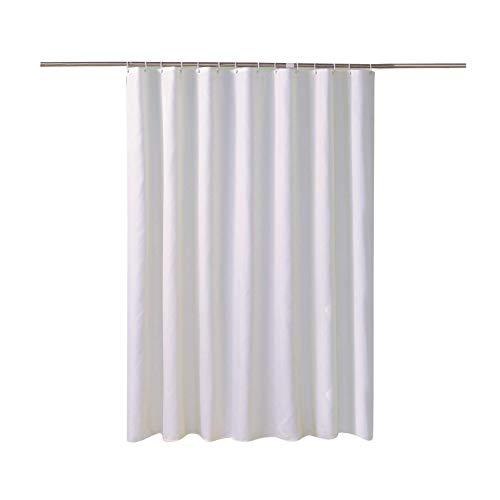 GUOCU Undurchlässiger Weißer Duschvorhang Wasserabweisende Antibakterielle und Schimmelresistente Badezimmer Badewanne Weiß 180 * 220 cm Verdicken