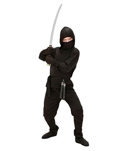 Schwarzes Ninja Kinderkostüm