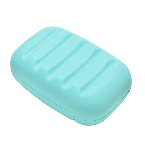 Powder Detergent - Candy Color Soap Dish Box Case Holder Container Wash Shower Home Bathroom Travel Outdoor Camping - Bathtub Travel Dishes Drainage Drain Shell Shower Sink Bulk Plastic Blu Blue Steel Wash