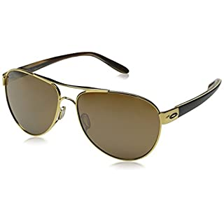Oakley Damen Disclosure 411002 58 Sonnenbrille, Gold (Polished Gold/Tungsteniridium)