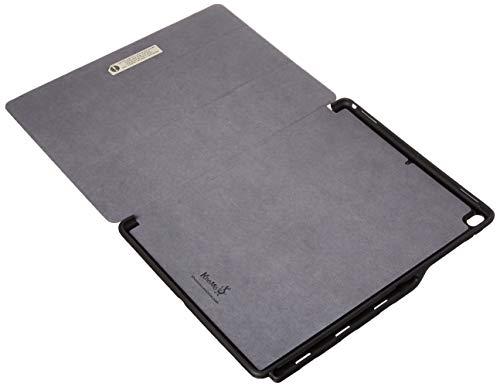 KHOMO iPad Pro 12.9 (2017) Case Hülle Gehäuse mit Doppeltem Schutz, Smart Cover und Apple Pencil 1 Halter Schutzhülle - Leder Braun (Leder Verarbeitetes Tri-fold)