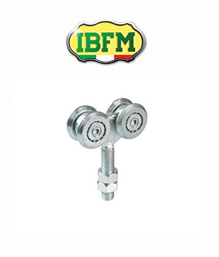 Werkstattwagen für Türen Schiebetüren aus Stahl Art. 331IBFM Wagen Fixed A 4Kugellager-mm. - Tür-hardware Wagen