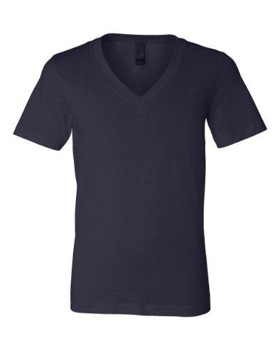 Bella+Canvas: Unisex Jersey Deep V-Neck T-Shirt 3105 Bleu - Midnight