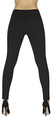 elegante Shape-Leggings versch. Styles * formend modellierend schlankmachend * Gr. S M L XL XXL Schlankmacher Leggins Damenhose Push-Up Schwarz (Marcella)