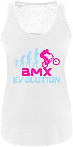 EZYshirt® BMX Evolution Damen Tanktop Weiss/Hellbl/Pink