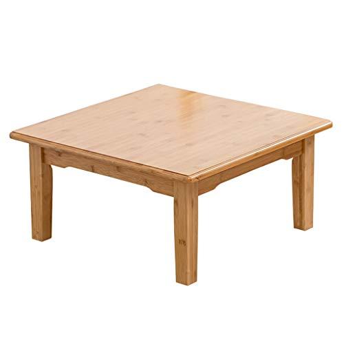 Klapptisch LITING massivholz quadratisch Tisch Bett studentisch abendtisch Tatami Tisch kleinen couchtisch bucht Fenster niedrigen Tisch 50 * 50 cm (Size : 50 * 50 * 47cm) -