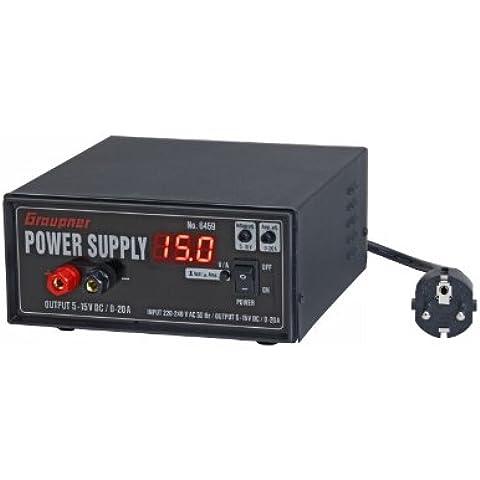 Graupner - Fuente de alimentación, 5-15 V, 0-15 A (6459)