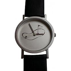 Golfuhr,Armbanduhr für Golfer,Uhr mit Golfmotiv Damen u Herren