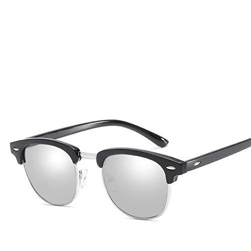 Duhongmei123 Mode Brillen Sonnenbrille Sonnencreme UV400 Metall Halbrahmen Vintage Retro Polarized Light TAC Occhiali (Color : 20)