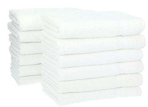 Betz 12 Stück Handtücher Set Größe 50x100 cm 100% Baumwolle