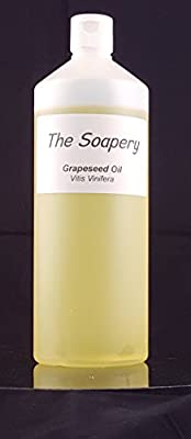 Grapeseed oil 1 Litre - Cosmetic Grade - Also a Carrier Oil for Massage and Aromatherapy by TheSoapery from The Soapery