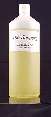 Huile de pépins de raisin 1liter - Produit cosmétique - huile de support pour massage et aromathérapie
