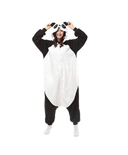 mcdslrgo Unisex Warm Einteiler Polar Fleece Schlafanzüge Nachtwäsche Panda Cosplay Kostüm Einteiler Pyjama Gr. Asiatisch S, Verschiedene Farben (Asiatische Kostüme Und Textilien)