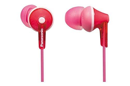 Panasonic RP-HJE125E-P In-Ear (Drei Paar Pass-Stücke, 10-24.000 Hz, 1,1 m Kabel) pink