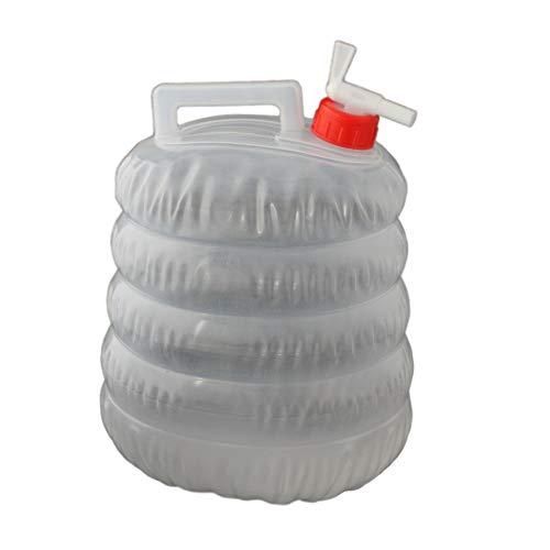 Faltbarer 5L Wasserkanister Wasserbehälter Trinkwasser Behälter für Festival Wandern Camping Picknick und Reise