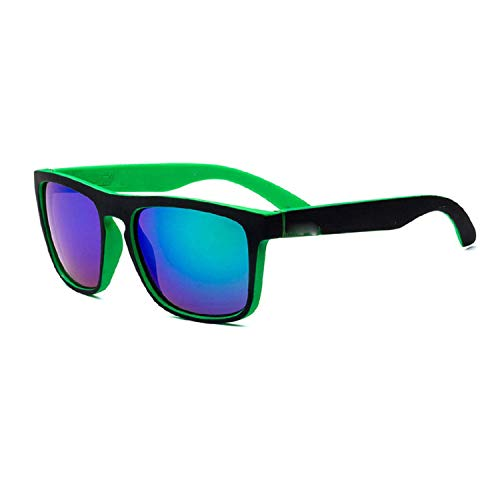 WERERT Sportbrille Sonnenbrillen Square Sunglasses Men's Driving Male Sunglasses Retro - Versace Red Lens