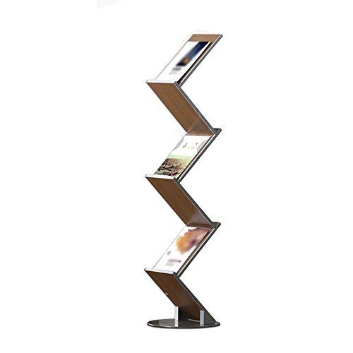 Porte-magazines et porte-journaux Multifonction Modulaire Woody File Shelf Boîte De Rangement De Bureau Livres Et Journaux Fichiers De Présentoir Rack Style De Plancher