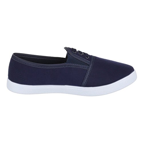 Damen Schuhe, AC-46, FREIZEITSCHUHE BEQUEME SLIPPER Blau