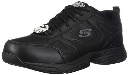 Skechers Men's Work Relaxed Fit Dighton Slip Resistant Sneaker,Black,US 7 W