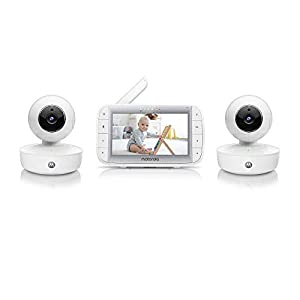 Motorola Baby MBP50A-2 Twin Video Baby Monitor with 5 Inch Handheld Parent Unit, Infared Night Vision and Room Temperature Display   12