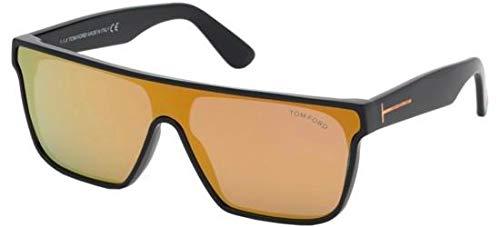 Tom Ford Sonnenbrillen Whyat (TF-709 01G) schwarz - grau - verspiegelt