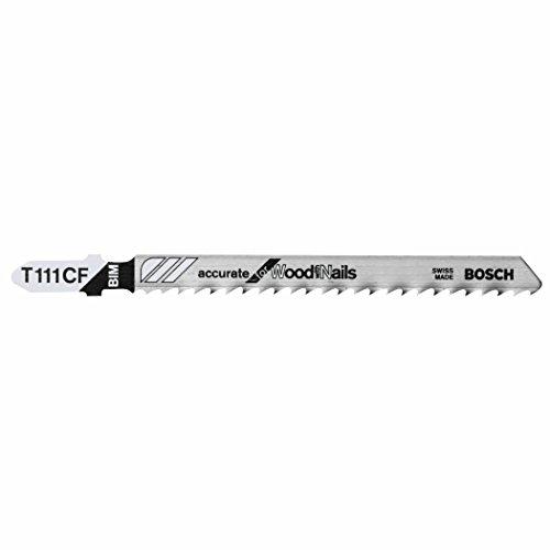 ROBERT BOSCH TOOL GROUP - 5-Pack 4-Inch 8-TPI Wood-Cutting Bi-Metal Jigsaw Blade (Jigsaw Blade Cutting)