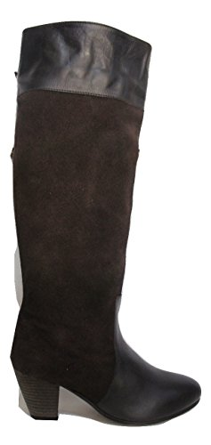 MISS KURT GEIGER Brown Leather & Suede Contrast Boots (UK 5 (Eu38))