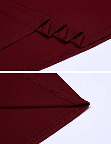 Umstandskleid Elegant Lang Stillkleid Festlich Knielang Schwangerschafts Kleid Umstandspyjama - 7