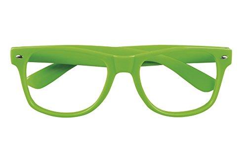 rille Brille Kostüm Neon, Neongrün ()