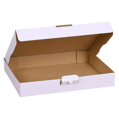 50x Maxibriefkartons Versandkartons Faltschachtel Faltkarton Maxibrief Karton 350 x 250 x 50, Weiß, MB-5