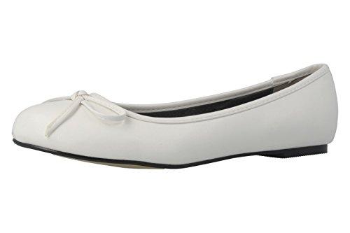 Andres Machado Ballerinas in Übergrößen Weiß TG104 Soft Blanco große Damenschuhe, Größe:44