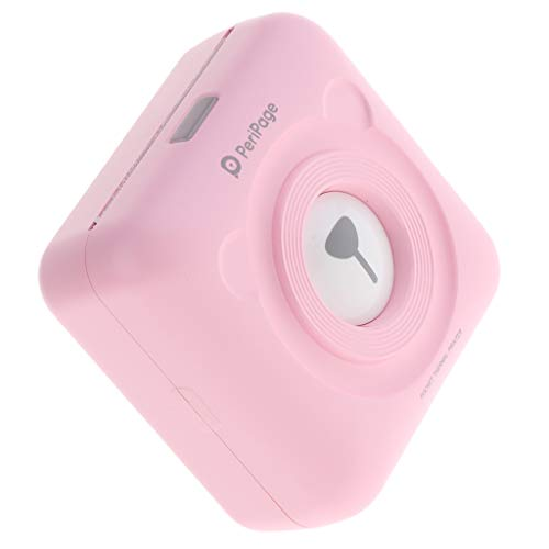 F Fityle Mini HD Wireless Mobile Instant Fotopapier Thermodrucker Bluetooth Kompatibel mit iOS Android Geräte (Rosa)