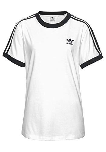 adidas 3 Stripes Women Shirt (36, weiß)