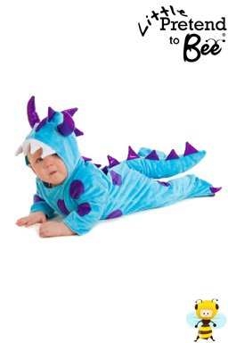 Baby Boys or Girls Kids Dinosaur Dragon Monster Fancy Dress Party Halloween Onesie Costume for Babies or Toddlers 6-12 Months by Pretend to Bee