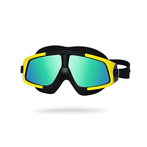 NAN® Unisex-Erwachsene Open Water Schwimmmaske Anti-Fog-Schutzbrille,Yellow
