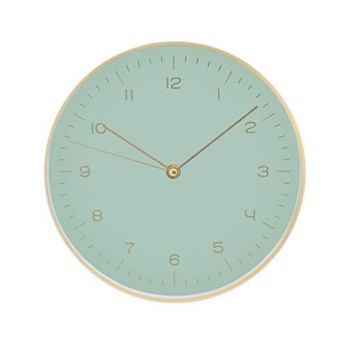 LUUK LIFESTYLE hochwertige, Schlichte Nordic Design Minimal Quarz Wanduhr mit Sekundenzeiger, Küchenuhr, Wohnzimmer Uhr, Büro Wanduhr, Flur, Mint grün
