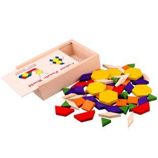 Muster Blöcke und Boards Vorschule Pädagogische Holz Puzzle Puzzles Parttern Blocks 60 (Halloween Grafiken Frei)