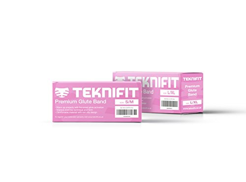 Teknifit Booty Builder Premium Glute Activation Hip Band Circle Pink Fabric