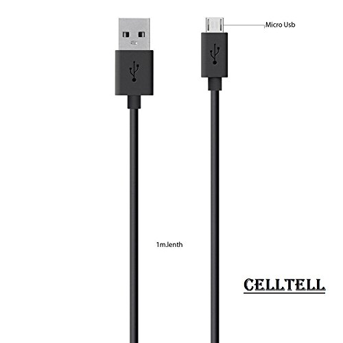 CELLTELL Micro Usb Data Charging Cable For Samsung Champ Neo Duos C3262 (C 3262) Compatible USB Cable Data Charging Cable Original Like Data Cable || Micro USB Fast Charging Cable || Sync Cable || Charger Cable For Power Bank, Bluetooth Earphones, Car Charger | Quick Charge Cable Speed Upto 2.4 Amp || High Speed Data Transfer Cable With Mobile Tablet PC Laptop Android Smartphone V8 Cable -BLACK  available at amazon for Rs.245