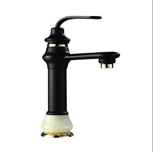 Waschtisch Armatur Bad Orb und Gold Wasser Mixer heiße und kalte Waschbecken Armatur, Waschtisch Armatur mit Jade Base Tippen - Waschtisch Waschbecken Base