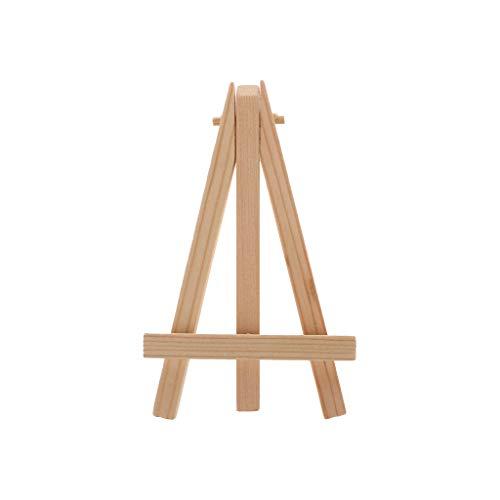 A0127 Staffelei Mini-Ständer, Ständer für Malwerkzeuge, für Kinder, Hochzeiten, Skizzen, Holz Natur, Holz, Bois Couleur, S: 7 * 12 cm