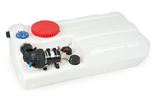 wellenshop Nuova Rade Wassertank Bora 12 V Pumpe 60 L Förderleistung 8 Liter/min Frischwassertank Bootstank Tank Wasser-Behälter Boot