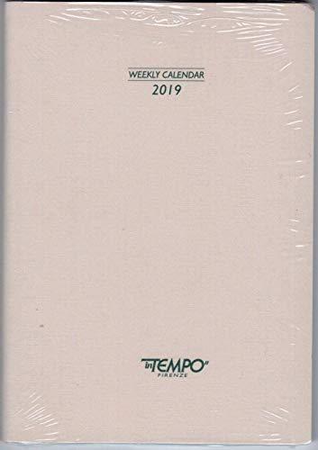 RICAMBIO AGENDA SETTIMANALE 2019 CM. 17x24 cm FASCIATA IN CARTONCINO intempo + omaggio segnalibro
