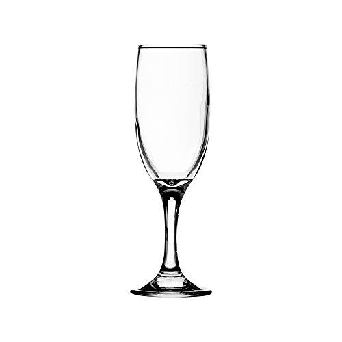 Ravenhead Ascot Lot de 6 flûtes à champagne 18 cl Contenance, Transparent