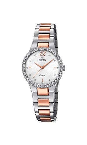 Festina Reloj Análogo clásico para Mujer de Cuarzo con Correa en Acero Inoxidable F20241/2
