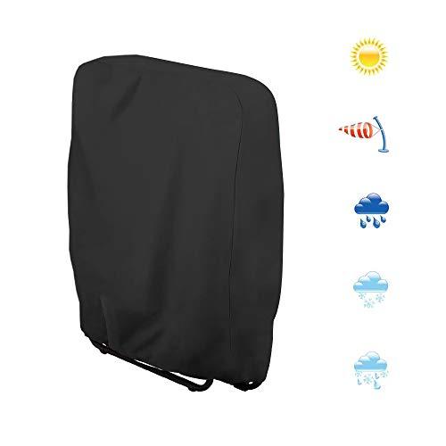 PIKOVIC Klappstuhl Abdeckung Schutzhülle für Liegestuhl Sonnenliege Wasserdicht Anti-UV Gartenmöbel Schutz vor Beschädigungen 210D Oxford